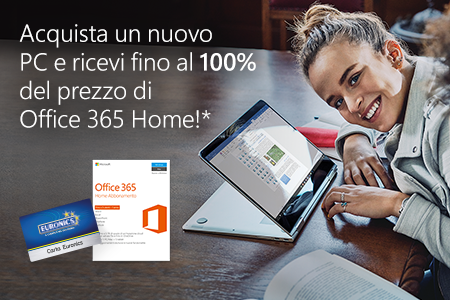 Euronics - Office 365 Home Edition CashBack - IT